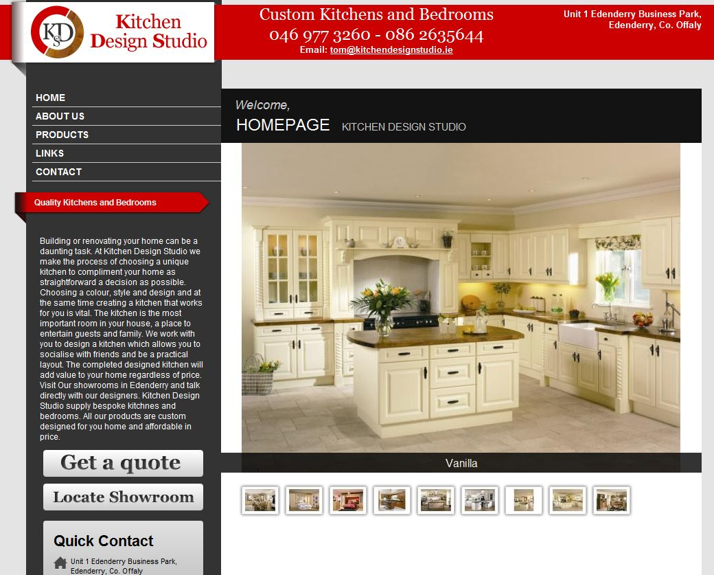 Kitchen Design Studio Launch High Class Website Handywebie 39 S Blog