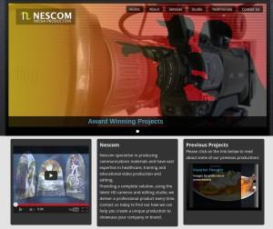 Digital Media Production Website for Nescom