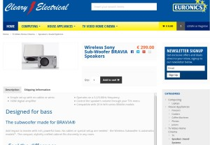 Product Page on ClearyElectrical.ie